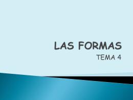 LAS FORMAS - IES Pedro Laín Entralgo