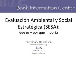 Evaluación Ambiental y Social Estratégica (SESA): que es, por que