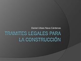 Tramites legales para la construcción