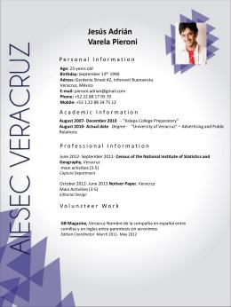 Template CV - Instituto Tecnológico Superior de Poza Rica