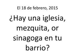El 18 de febrero, 2015