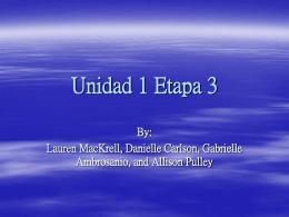 Vocabulario de Unidad 1 Etapa 3