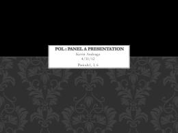 POL : Panel A Presentation