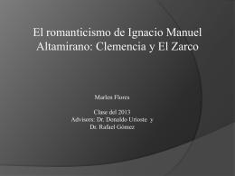 El romanticismo en dos novelas de Ignacio M. Altamirano