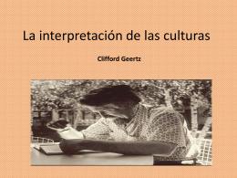 La interpretación de las culturas – equipo 3
