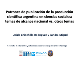 Patrones de publicación y colaboración en la producción científica
