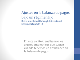 Mecanismos de ajustes en el mercado internacional(2011)