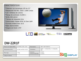 Gral Ficha Tecnica LED DW Display 22-24-32