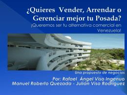 Propuesta de negocios para Posadas en Venezuela