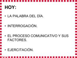 el proceso comunicativo y sus factores