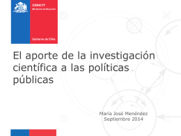 Políticas Públicas: Dpto. Estudio y Gestión Estratégica CONICYT.