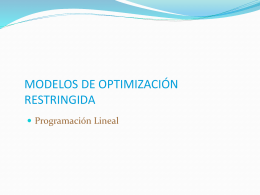 modelos de optimización restringida