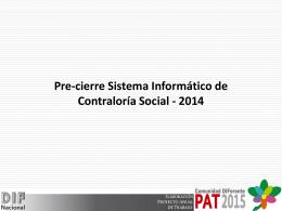 Pre cierre SICS 2014