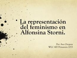 La representación del feminismo en Alfonsina