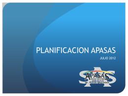 PLANIFICACION APASAS