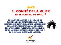 NACE EL COMITÉ DE LA MUJER EN EL CONCEJO DE BOGOTÁ