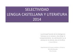 selectividad lengua castellana y literatura 2010