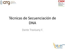 Técnicas de Secuenciación de DNA