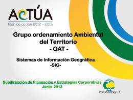 oat -sistemas de información geográfica-sig