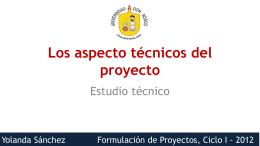 Presentación 09: Estudio técnico