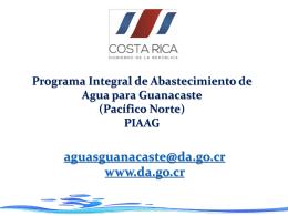 Presentación PIAAG SENARA 2015