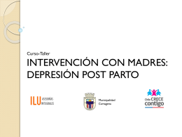 Intervencion con madres depresion post parto