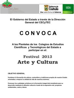 Festival regional 2013 Arte y Cultura