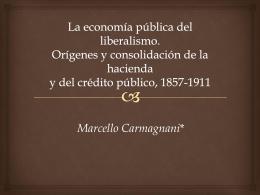 La economía pública del liberalismo. Orígenes y consolidación de la