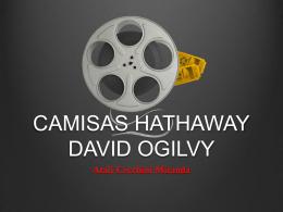 CAMISAS HATHAWAY DAVID OGILVY