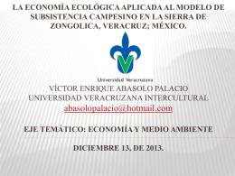 La economía ecológica aplicada al modelo de