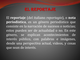 El Reportaje Diapositivas