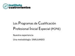 Los Programas de Cualificación Profesional Inicial Especial