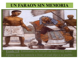 UN FARAON SIN MEMORIA