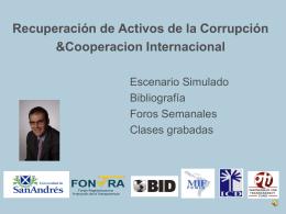 Taller de Capacitación Recuperación de Activos de la Corrupción