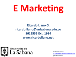E Marketing - Ricardo Llano G.