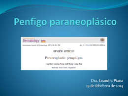 Penfigo Paraneoplásico. A. Anning Yong and Hong Liang Tey
