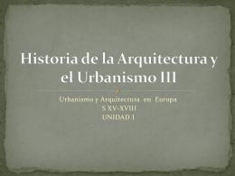 Historia de la Arquitectura y el Urbanismo III