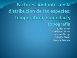 Factores limitantes en la distribución de las especies
