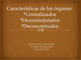 Características de los órganos