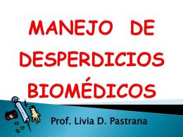 MANEJO DE DESPERDICIOS BIOMÉDICOS