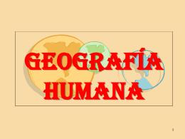 Geografía humana.