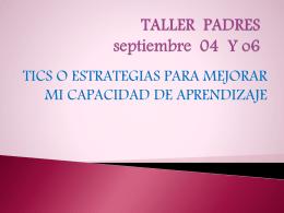 Taller para padres - Escuela Normal María Montessori Sede B