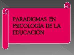 paradigmas de psicologia