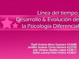 LINEA DEL TIEMPO PSICOLOGIA DIFERENCIAL