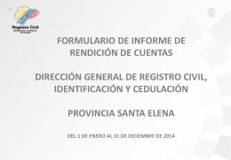 SANTA ELENA Informe Final