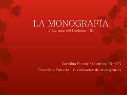 La Monografía - Programa del Diploma IB
