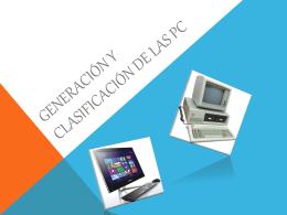 Generación y clasificación de las pc