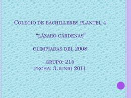 Colegio de bachilleres plantel 4 *lázaro cárdenas* olimpiadas del