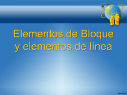 Elementos de bloque
