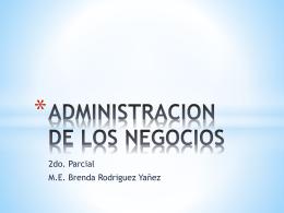 ADMINISTRACION DE LOS NEGOCIOS